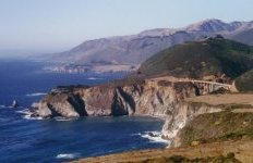 Big Sur coast around Bixby Bridge on Highway 1