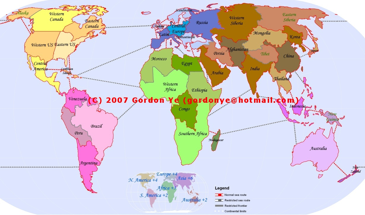 Gordons Page Of MapsGIS - North american countries map game