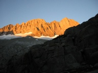 Sunrise on Middle Palisade's northeast face