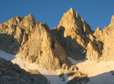 North Arete in morning sun