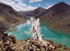 Semi-La reservoir near Gyantse, Tibet