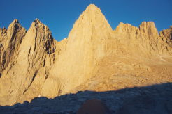 Mount Whitney in morning sun